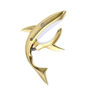 カポタスト サメ シャーク フォークギター エレキギター アコースティックギター 楽器 メタリック チューニング クリップ|rebias