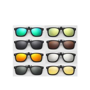 サングラス 偏光 レンズ クリップオン ウェリントン 眼鏡 メガネ UVカット お洒落 グラサン|rebias