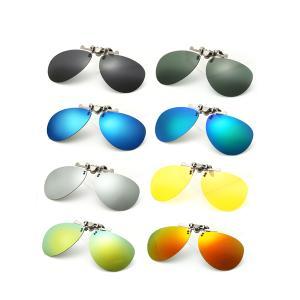 ティアドロップ サングラス 偏光 レンズ クリップオン UVカット 眼鏡 メガネ|rebias