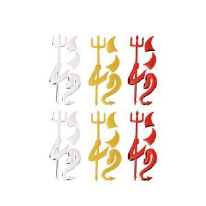 汎用 エンブレム デビル ステッカー 2枚セット 汎用 3D 立体 エンブレム トヨタ 日産 ホンダ マツダ スズキ カスタム ステッカー 車|rebias