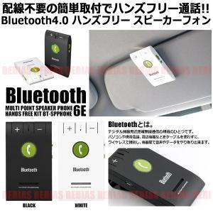 Bluetooth ハンズフリー スピーカーフォン バイザー取付タイプ iPhone Android|rebias