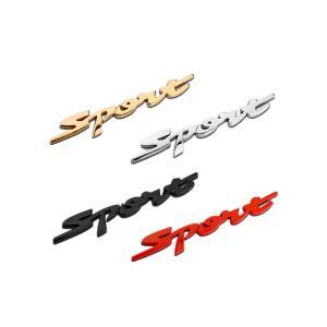 カーステッカー エンブレム SPORTS スポーツ 立体 3D デカール バイク 車 外装パーツ カスタム ステッカー シール 汎用|rebias