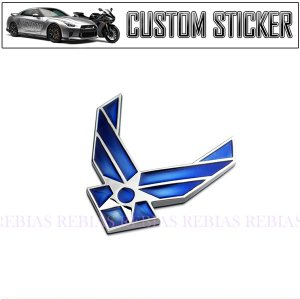 空軍 エンブレム  US アメリカ ステッカー カスタム パーツ カー用品 3D マーク スター|rebias