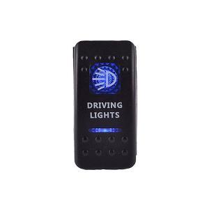 LED ロッカスイッチ 5ピン 12〜24V ゾンビライト ボタン 切替 イルミネーション 汎用 車 内装|rebias