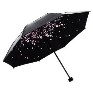 折り畳み傘 夜桜 桜吹雪 和風 雨傘 日本 夜空 桜 雨具 男女兼用 綺麗|rebias