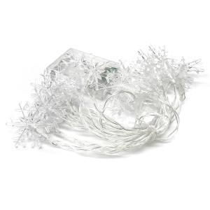 雪 結晶 LED スノークリスタルイルミネーション ライト 電池式 20LED クリスマス 飾り|rebias