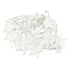 星型 LED スターイルミネーション ライト 電池式 20LED 3m クリスマス 飾り|rebias