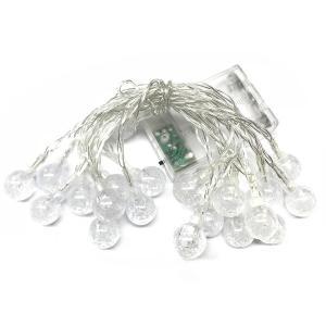 LED ボールイルミネーション ライト 電池式 20LED クリスマス 玉 球 かわいい 飾り|rebias