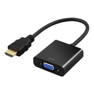 HDMI VGA 変換アダプタ 1080P 大画面 映像 信号 変換 ケーブル PCモニタ 出力|rebias