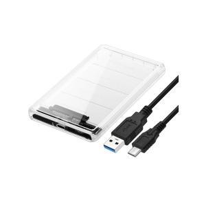 ポータブル SSD スケルトン ケース 透明 2.5インチ TYPEC 2TB対応 外付け|rebias