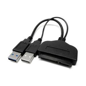 SATA-USB 変換アダプター 2.5インチ HDD SSD ODD USB3.0 SATAケーブル AC電源不要 バスパワー|rebias