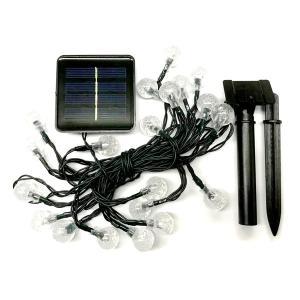 LED ソーラー ボールイルミネーション ライト 20LED クリスマス 玉 球 かわいい 飾り|rebias