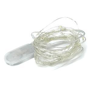 LED ワイヤー ライト ピクシーイルミネーション 電池式 40LED クリスマス 粒 かわいい 飾り|rebias