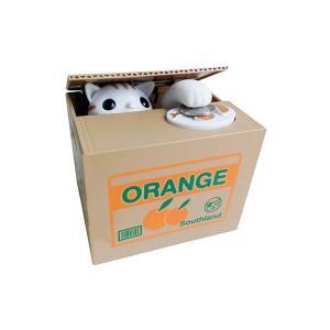動物 貯金箱 奪う ニャンかくれバンク かわいい 硬貨 置く 手 段ボール おもちゃ 猫 パンダ|rebias