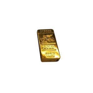 ゴールド インゴット プラズマライター アーク 金塊 開運 煙草 たばこ 着火 USB 充電 PLAZMA LIGHTER INGOT|rebias