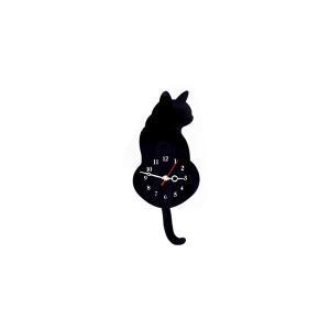 にゃんこ 掛け時計 猫 CAT ネコ クロック しっぽ 黒猫 三毛猫 CLOCK|rebias