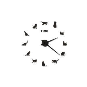 キャット ウォールクロック 掛け時計 DIY 猫 CAT ネコ クロック ライフ LIFE WALL CLOCK|rebias