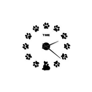 肉球 掛時計 ウォールクロック DIY 猫 CAT ネコ クロック キャット WALL CLOCK|rebias