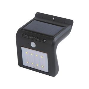 ソーラー センサー ウォール ライト 8LED 人感 防犯 明るい 玄関 壁掛け式 防犯 安全 rebias