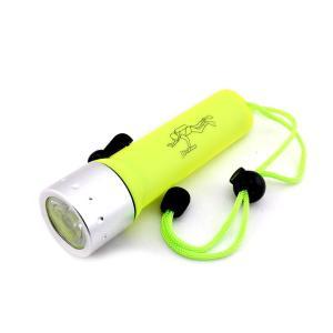防水 ダイビング LED ライト 3W 防災 グッズ 小型 耐水 懐中電灯 高輝度 単3 電池式 ハンディ キャンプ 夜釣り|rebias