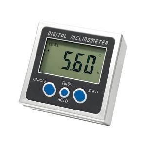 デジタル角度計 傾斜計 水平器 レベルBOX 磁石付 測定範囲 0〜360° DIY 電池式 スーパーデジタルレベル|rebias