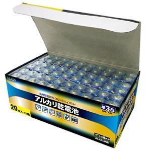 (中古品) LAZOS 単3アルカリ乾電池60本セット(20本入×3パック) B-LA-T3X20 ...