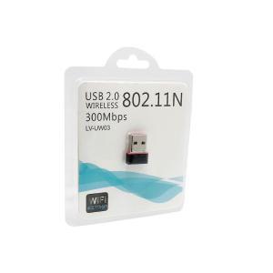 USBポートに差し込むだけの、無線LAN(Wi-Fi)受信機です。  インターネットにつながっている...