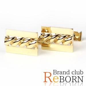 〔ただいま特別割引中!〕〔良品〕〔A+ランク〕ヴァンクリーフ&アーペル スクエア カフリンクス(カフス) 750YG/K18YG イエローゴールド|reborn-brand