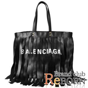 〔美品〕〔SAランク〕バレンシアガ/BALENCIAGA ランドリー カバ フリンジ ショルダーバッグ ラージ カーフレザー ブラック 517843|reborn-brand