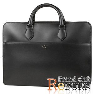 〔美品〕〔SAランク〕カルティエ/Cartier ルイ カルティエ ブリーフケース/ビジネスバッグ カーフスキン ブラック×シルバー金具 L1001766|reborn-brand