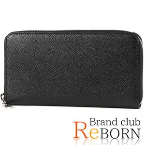 〔新品〕ブルガリ/BVLGARI クラシコ ラウンド長財布 グレインレザー ブラック×シルバー金具 20886 reborn-brand