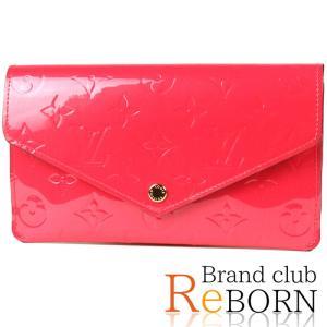 〔新品同様品〕ルイ ヴィトン/LOUIS VUITTON ポルトフォイユ・ジャンヌ(二つ折長財布) モノグラム・ヴェルニ ホットピンク M61689|reborn-brand