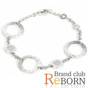 ブルガリ/BVLGARI ソートワール ダイヤ ブレスレット 750WG/K18WG×ダイヤモンド ホワイトゴールド|reborn-brand