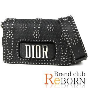 〔ただいま特別割引中!〕〔良品〕〔A+ランク〕ディオール/Dior EVOLUTION スタッズ ショルダーバッグ カーフレザー×スタッズ ブラック M8000|reborn-brand