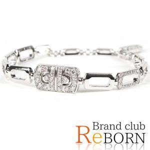 〔ただいま特別割引中!〕〔良品〕〔A+ランク〕ブルガリ/BVLGARI パレンテシ ダイヤ ブレスレット 750WG/K18WG×ダイヤモンド ホワイトゴールド|reborn-brand