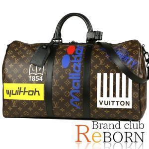 〔ただいま特別割引中!〕〔未使用品〕ルイ ヴィトン/LOUIS VUITTON ロゴ キーポル・バンドリエール50(2WAYボストンバッグ) モノグラム ブラウン M44642|reborn-brand
