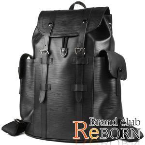 〔ただいま特別割引中!〕〔良品〕〔A+ランク〕ルイ ヴィトン/LOUIS VUITTON クリストファーPM(バックパック/リュック) エピ ノワール M50159|reborn-brand