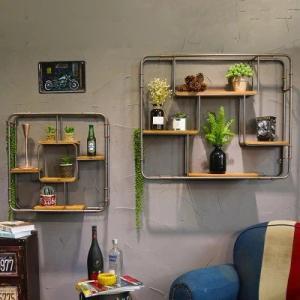 ウォールシェルフ おしゃれ アメリカン ウォールラック キッチン 石膏ボード 木製 アイアン rebuild-store