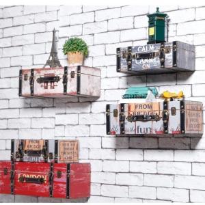 ウォールシェルフ おしゃれ アメリカン キッチン 石膏ボード 棚 レトロ 木製 Mサイズ rebuild-store