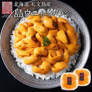 ウニ うに 北海道産 生エゾバフンウニ 塩水パック 90g 生ウニ 塩水うに 無添加|rebun