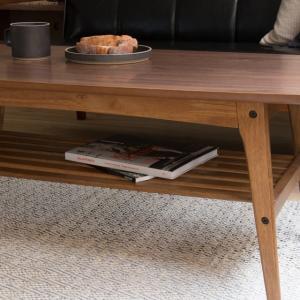 Tomte コーヒーテーブル Lサイズ 北欧 ヴィンテージ インダストリアル ブラウン 木製 ウォールナット/ポイント10倍/あすつく|receno