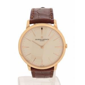 VACHERON CONSTANTIN ヴァシュロンコンスタンタン 腕時計 パトリモニー ラージ 40mm 手巻き メンズ K18ローズゴールド 81180/000R-9159 メンズ 中古