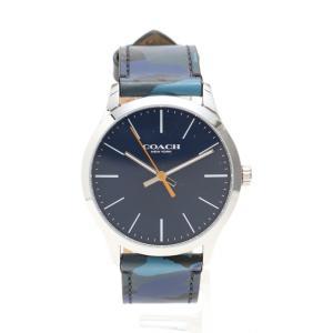 e32583720952 コーチ COACH メンズ 腕時計 クオーツ カモフラージュ SS レザー 青 ネイビー シルバー 14602370 メンズ 中古