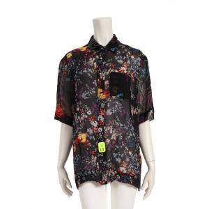 ディーゼル DIESEL C-FRY-FLOW シャツ 花柄 半袖 マルチカラー オーバーサイズ 00SSJW0DAUX レディース 中古|reclo-as-shopping