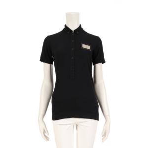 ドルチェ アンド ガッバーナ DOLCE&GABBANA ポロシャツ 黒 プレート レディース 中古|reclo-as-shopping