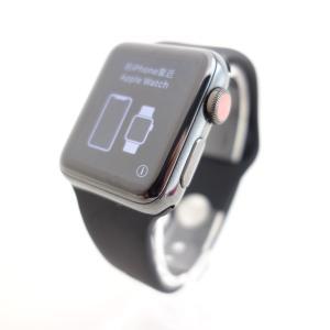 【Apple】Apple Watch Series 3 (GPS + Cellularモデル) 38mm スペースブラックステンレススチール reco