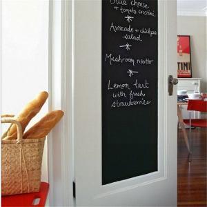 賃貸のアパートやマンション、オフィスや店舗でも安心なシールタイプの黒板のウォールステッカーです。手軽...