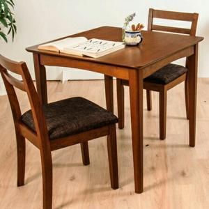 ダイニングテーブル 3点セット ダイニングセット 木製 北欧 幅75cm 正方形 ダイニングチェア2脚 木目 ウォールナット 食卓用 代引不可|recommendo