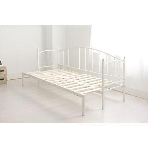 ベッド シングル フレーム アイアン横伸長式ソファベッド MERYL メリル フレームのみ シングル 代引不可|recommendo