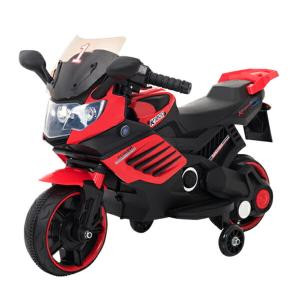 電動乗用バイク レッド ホワイト 充電器付き CBK-016 子供用 乗用 プレゼント ギフト おもちゃ バイク カッコいい 充電式 代引不可|recommendo